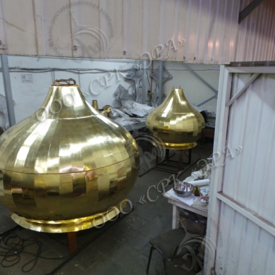 Сусальное золочение куполов, примеры работ компании ЭРА